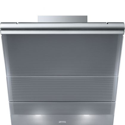 Hota de perete Smeg Linea KTS75SCE2, 75 cm, Inox + Silver glass