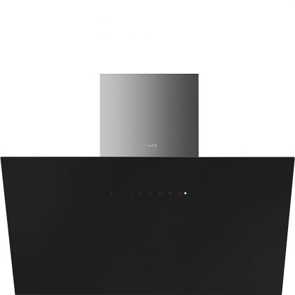 Hota de perete Smeg KICV90BL, 90 cm, inox + sticla neagra