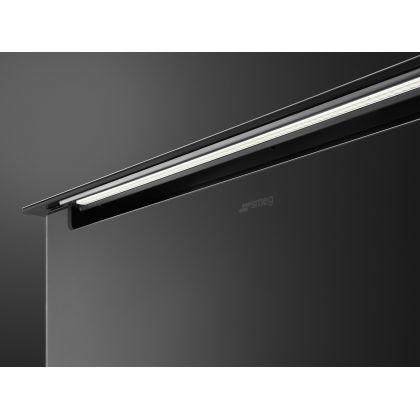 Hota incorporabila de blat Smeg Dolce Stil Novo KSDD90VN-2, 90 cm, inox + sticla neagra