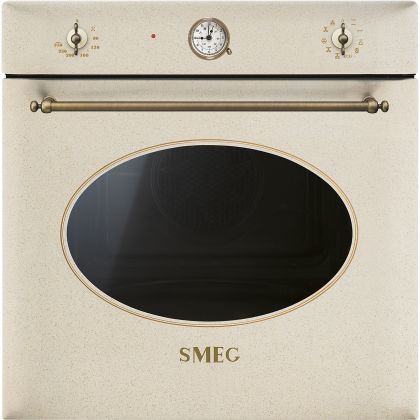 Cuptor incorporabil electric Smeg Colonial SF855AVO, 60 cm, avena, retro, Vapor Clean