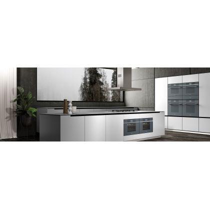 Cuptor incorporabil compact combinat cu aburi Smeg Linea SF4104VCS, 60 cm, silver glass, Vapor Clean