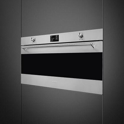 Cuptor incorporabil electric Smeg Classic SFPR9395X, 90 cm, inox, pirolitic