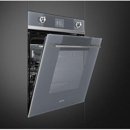 Cuptor incorporabil electric Smeg Linea SFP6102TVS, 60 cm, silver glass, pirolitic