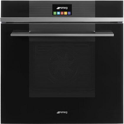 Cuptor incorporabil electric Smeg Linea SFP6104TVN, 60 cm, negru, pirolitic
