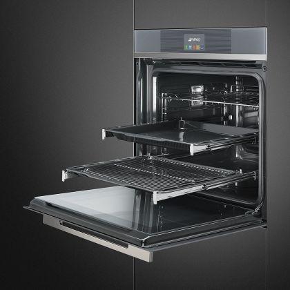 Cuptor incorporabil electric Smeg Linea SFP6104TVS, 60 cm, silver glass, pirolitic
