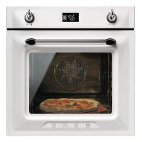 Cuptor incorporabil electric Smeg Victoria SFP6925BPZE1, 60 cm, alb, pirolitic, retro pizza