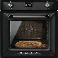 Cuptor incorporabil electric Smeg Victoria SFP6925NPZE1, 60 cm, negru, pirolitic, retro pizza