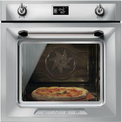 Cuptor incorporabil electric Smeg Victoria SFP6925XPZE1, 60 cm, inox, pirolitic, retro pizza