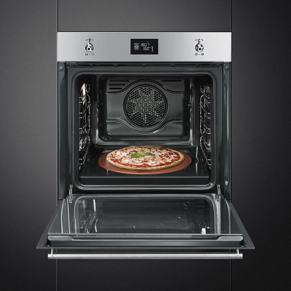 Cuptor incorporabil electric Smeg Classic SF6390XPZE, 60 cm, inox, Vapor Clean, pizza