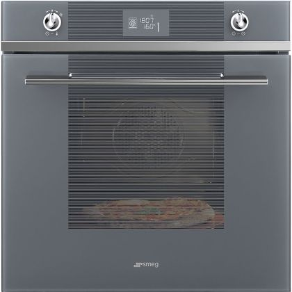 Cuptor incorporabil electric Smeg Linea SF6102PZS, Silver Glass, Vapor Clean, functie pizza