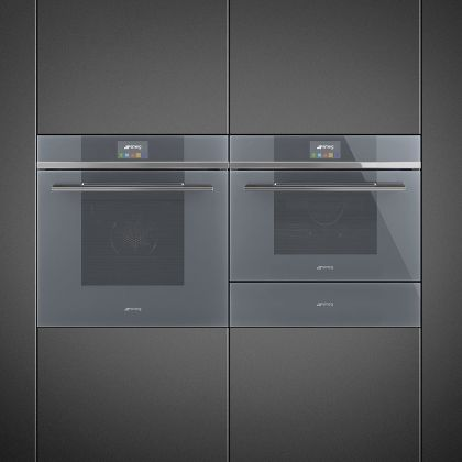 Cuptor incorporabil electric Smeg Linea SF6104TVS, 60 cm, Silver Glass, Vapor Clean