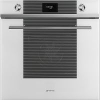 Cuptor incorporabil electric Smeg Linea SF6101VB, 60 cm, alb, Vapor Clean