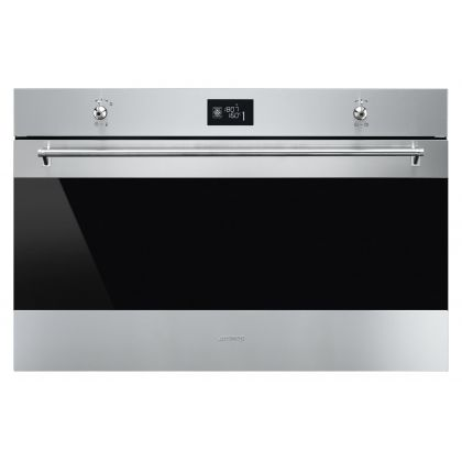 Cuptor incorporabil electric compact Smeg Classic SF9390X1, 90 cm, inox, Vapor Clean