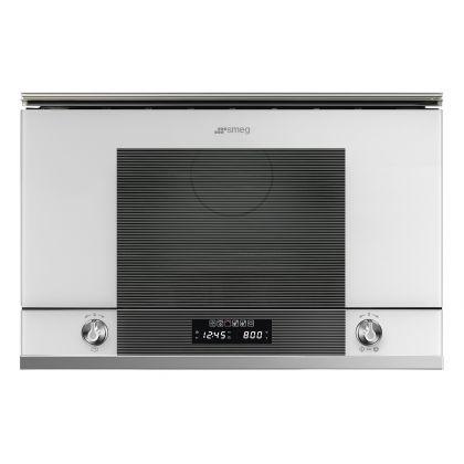 Cuptor incorporabil compact cu microunde Smeg Linea MP122B1, 60 cm, alb