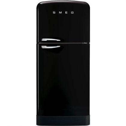 Frigider cu 2 usi No Frost Smeg FAB50RBL, retro, negru, A++, 80 cm latime