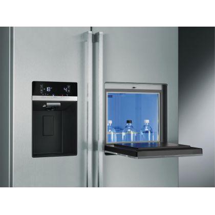 Combina frigorifica Side by Side Smeg SBS63X2PEDH, 90 cm, inox, congelator No Frost, HomeBar
