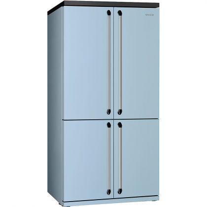 Combina frigorifica Side by Side cu 4 usi Smeg Victoria FQ960PB, 90 cm, albastru, congelator No Frost