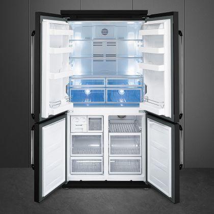 Combina frigorifica Side by Side cu 4 usi Smeg Victoria FQ960N, 90 cm, negru, congelator No Frost