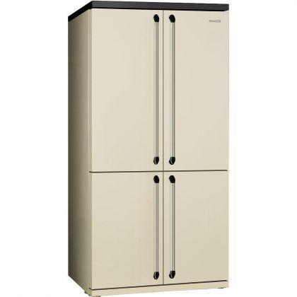 Combina frigorifica Side by Side cu 4 usi Smeg Victoria FQ960P, 90 cm, crem, congelator No Frost