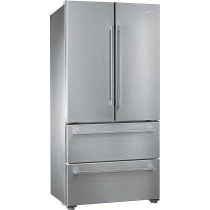 Combina frigorifica Side by Side cu 4 usi Smeg FQ55FX1, 84 cm, inox, congelator No Frost
