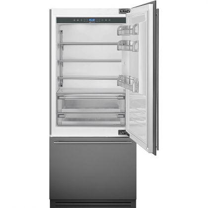 Combina frigorifica incorporabila Smeg RI96RSI, A+, congelator No Frost, 90 cm
