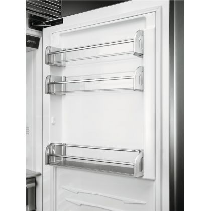 Combina frigorifica Smeg Classic RF376RSIX, 75 cm, inox Full, congelator No Frost, MultiZone, Ice maker