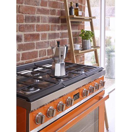 Masina de gatit mixta Smeg Portofino CPF9GPOR, 90 cm, portocaliu, 6 arzatoare, pirolitic