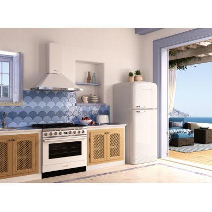Masina de gatit mixta Smeg Portofino CPF9GPWH, 90 cm, alb, 6 arzatoare, pirolitic