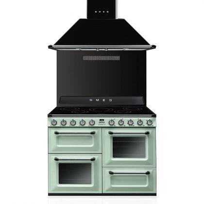 Masina de gatit electrica Smeg Victoria TR4110IPG, retro, verde deschis, 3 cuptoare, 110 cm latime, plita inductie
