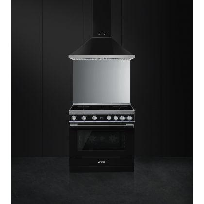 Masina de gatit electrica Smeg Portofino CPF9IPBL, negru, 90 cm latime, plita inductie, pirolitic