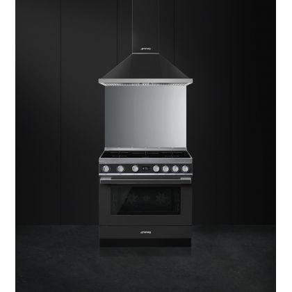 Masina de gatit electrica Smeg Portofino CPF9IPAN, antracit, 90 cm latime, plita inductie, pirolitic