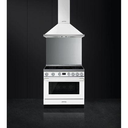 Masina de gatit electrica Smeg Portofino CPF9IPWH, alb, 90 cm latime, plita inductie, pirolitic