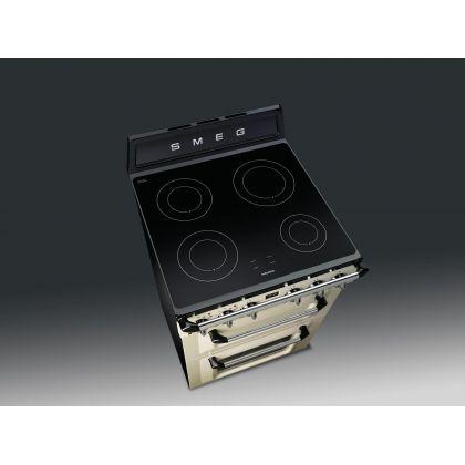 Aragaz electric Smeg Victoria TR62IP, crem, 60 cm latime, retro, plita inductie