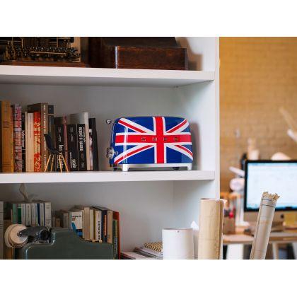 Prajitor de paine Smeg TSF01UJEU, 950 W, Union Jack, retro