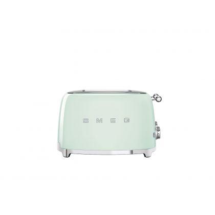 Prajitor de paine Smeg TSF03PGEU, 2000 W, verde, retro