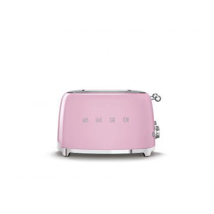 Prajitor de paine Smeg TSF03PKEU, 2000 W, roz, retro