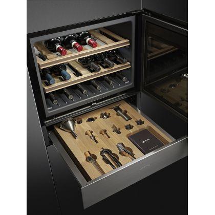 Racitor de vinuri incorporabil compact Smeg Classic CVI318RWX2, 18 sticle, balamale dreapta, Wifi