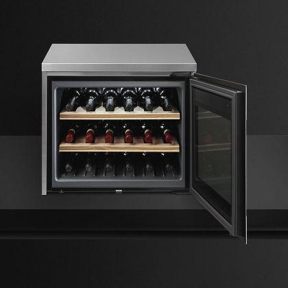Racitor de vinuri compact Smeg Classic CVF318X, inox, 18 sticle, balamale dreapta