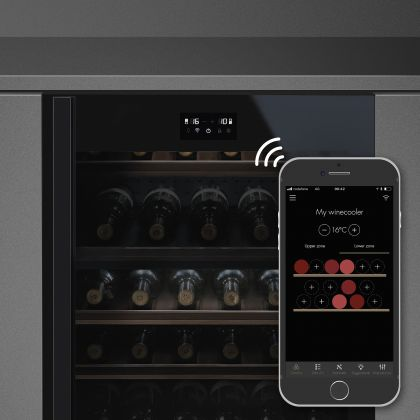 Racitor de vinuri incorporabil Smeg Dolce Stil Novo CVI638RWN2, negru, 38 sticle, balamale dreapta Wifi
