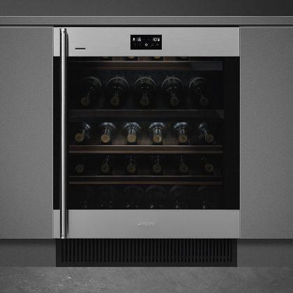 Racitor de vinuri incorporabil Smeg Classic CVI338RWX2, inox, 38 sticle, balamale dreapta, Wifi