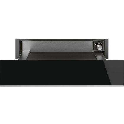 Sertar termic incorporabil Smeg Dolce Stil Novo CPR615NX, negru, finisaj inox, 15 cm, 21 l
