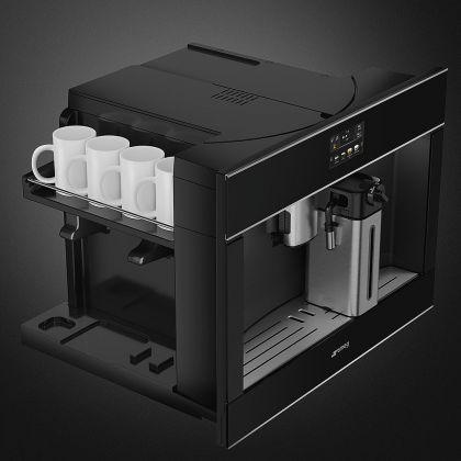 Espressor incorporabil Smeg Dolce Stil Novo CMS4604NX, negru, finisaje inox