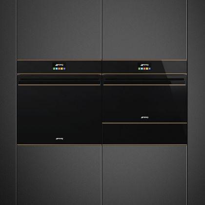 Cuptor incorporabil electric cu aburi Smeg Dolce Stil Novo SFP6604STNR, pirolitic, estetica cupru, Smartsense