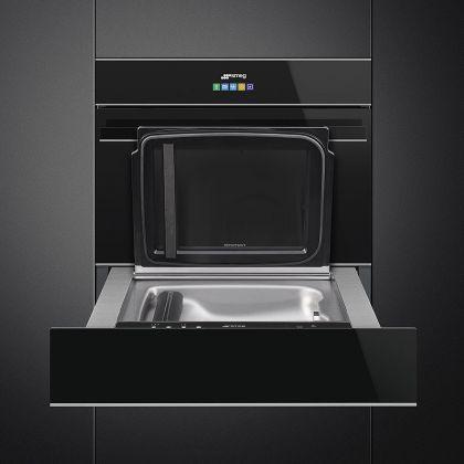 Blast chiller compact Smeg Dolce Stil Novo SAB4604NX, negru, finisaje inox, 5 functii racire, 5 functii incalzire