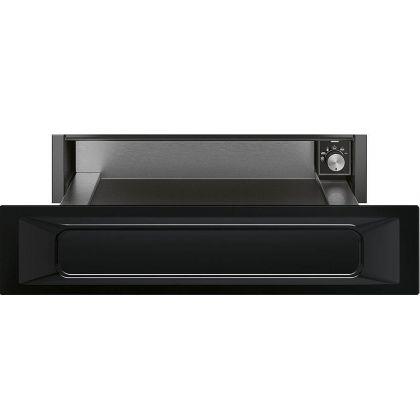 Sertar termic incorporabil Smeg Victoria CPR915N, negru, 15 cm, 21 l