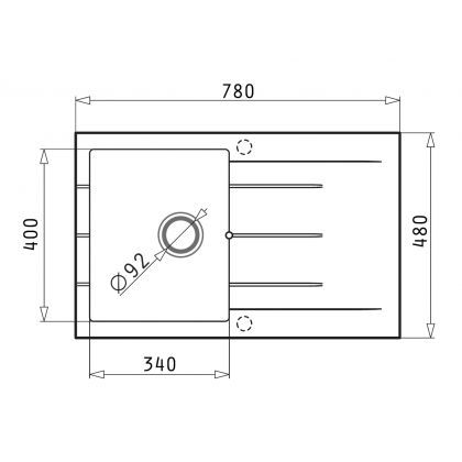 Set 2 in 1 Pyramis chiuveta ARKADIA 1B 1D SQ 070015201M, 78 cm, Beige + baterie MINUET cadou
