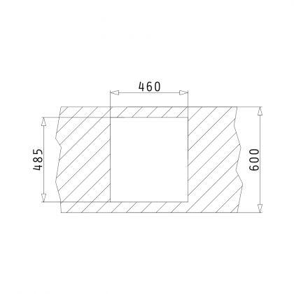 Chiuveta de bucatarie Pyramis CALEA 1B 48x50.5 Carbon, granit