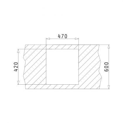 Chiuveta granit Pyramis MALENA 1B 070024101, 49x44, Carbon