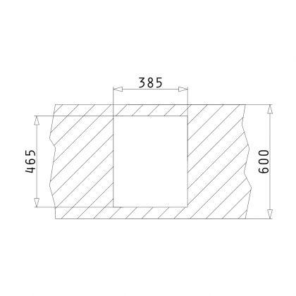 Chiuveta de bucatarie granit Pyramis RADA 1B, 070024701, 40,5x48,5, Carbon