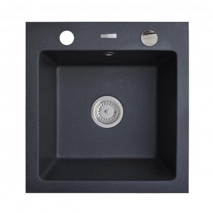 Chiuveta granit Pyramis ALYA 1B 48x50,5 890020006, negru